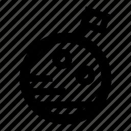 flag, moon, moon flag, space icon