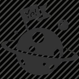 asteroid, astro, astronomy, globe, moon, planet, star icon