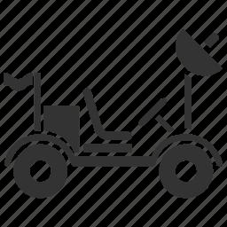 automobile, dune buggy, lunar rover, moon buggy, moon car, nasa, space buggy icon