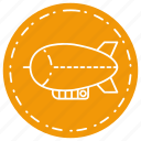 airship, blimp, round, transport, vehicle, zeppelin icon