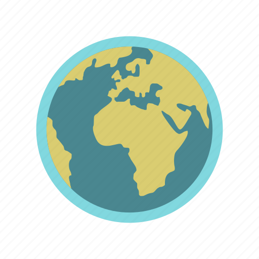 continent, earth, globe, ocean, planet, sphere, world icon