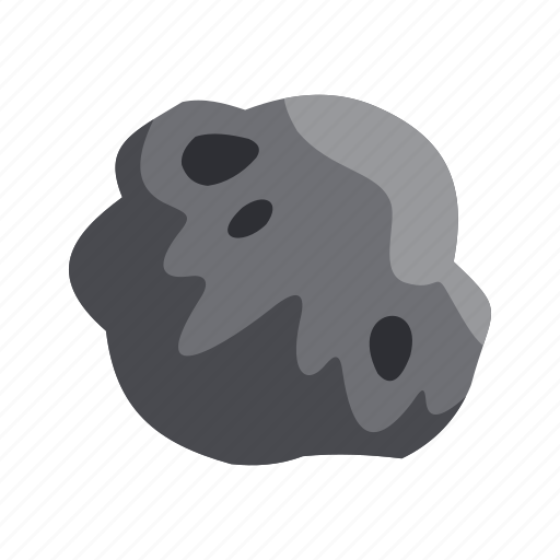 asteroid, destruction, flaming, impact, meteor, moon, surface icon