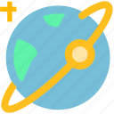 earth, planet, satellite, space icon