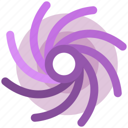 science, space, storm icon