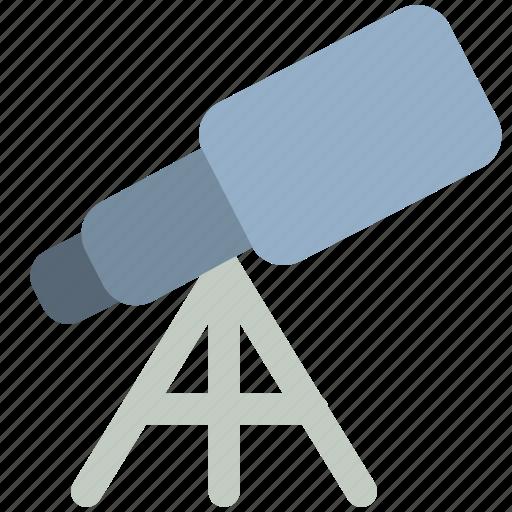 science, space, telescope icon