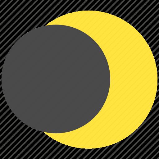 lunar eclipse, planet, space, sun icon