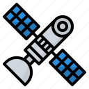 communication, link, satellite, space icon