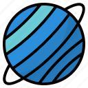 planet, solar, space, system, universe, uranus icon