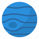 neptune, solar, space, system, universe icon