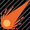 coma, comet, solar, space, system icon
