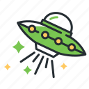 alien, flying saucer, space, ufo icon