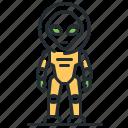 alien, extraterrestrial, monster, space suit