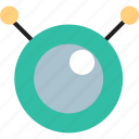 alien, antenna, being, eye icon