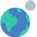 astrology, earth, moon, sign icon