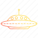 alien, astronomy, fiction, ship, space, spaceship icon