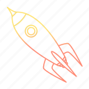 astronomy, rocket, space, spacecraft, spaceship icon