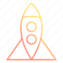 launch, rocket, spacecraft, spaceship icon