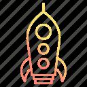 astronomy, rocket, spaceship, startup icon