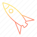 galaxy, launch, rocket, space, spaceship icon