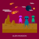 alien, alien invasion, another, invasion, space, the other, universe icon