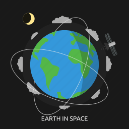 earth, home, our home, solar system, space, universe icon
