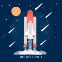 launch, rocket, rocket launch, space, technology, universe icon