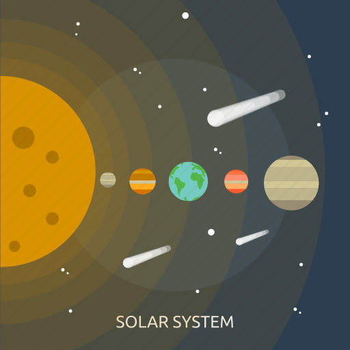 solar, solar system, space, system, universe icon