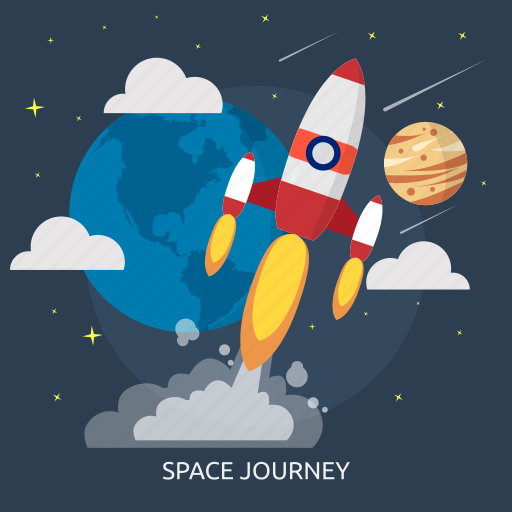 journey, rocket, space, space journey, technology, universe icon