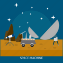 machine, space, space machine, technology, universe icon