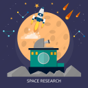 research, science, space, technology, universe icon
