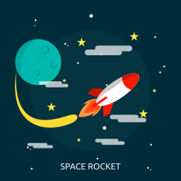 journey, research, rocket, science, space, space journey, universe icon
