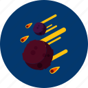 asteroid, circle, concept, design, galaxy, object, space icon