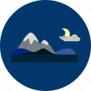 concept, design, holiday, moon, mountain, nature