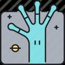alien, alien hand, hand, ufo, ufo hand icon