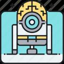 alien, alien robot, robot, ufo icon