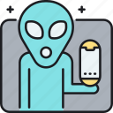 alien, alien tech, alien technology, technologies, ufo, ufo technology icon