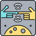 alien, alien contact, contact icon