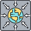 gravitational pull, gravity icon