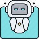 ai, artificial intelligence, intelligent tactical bot, robot, robotics, smart robot icon