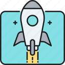 rocket, space ship, spaceship icon