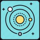 galaxy, orbit, solar, solar system, system, universe icon