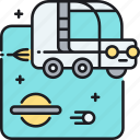 car, space, space car, space van icon