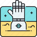 gloves, space, space gloves icon
