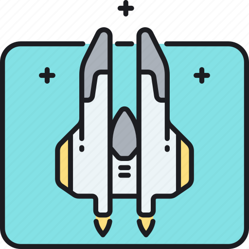 interceptor, space, space interceptor, space shuttle, spaceship icon
