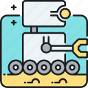 moon rover, robot, rover, space, space robot icon
