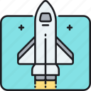 rocket, shuttle, space, space shuttle icon