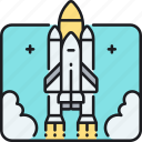 launch, rocket, rocket launch, shuttle, space, space shuttle icon