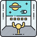 control, control panel, room, space station, spaceship, spaceship control room icon