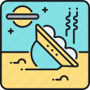 crash, crash landing, space shuttle, spaceship, ufo, ufo crash icon