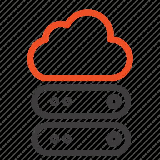 big, cloud, data, storage icon